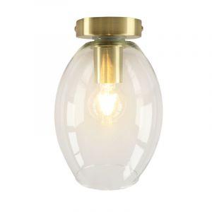 Goldene Deckenleuchte Marwin, Glas, design