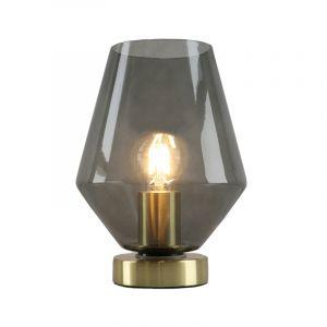 Goldene Tischlampe Maury, Glas, design, Mit Schalter