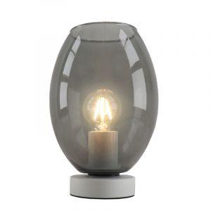 Weiße Tischlampe Mavis, Glas, design, Mit Schalter