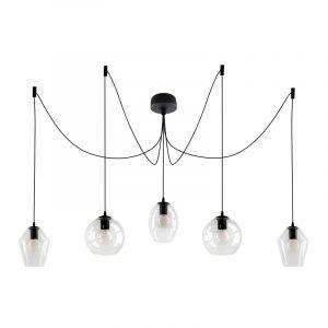 Schwarze Deckenleuchte Lazaro, Glas, design