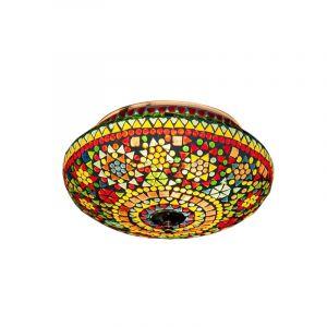 Orientalische Deckenleuchte Mimoun, Mosaik, multicolour