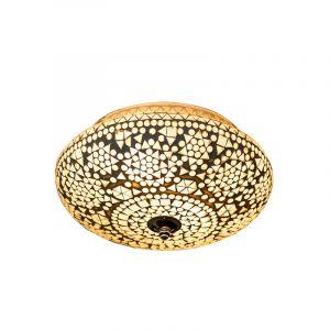 Orientalische Deckenleuchte Mimoun, Mosaik, transparent