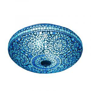 Orientalische Deckenleuchte Louay, Mosaik, blau