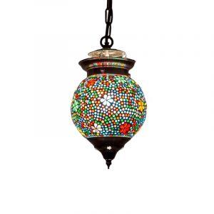 Orientalische Pendelleuchte Nisrin, Mosaik, multicolour