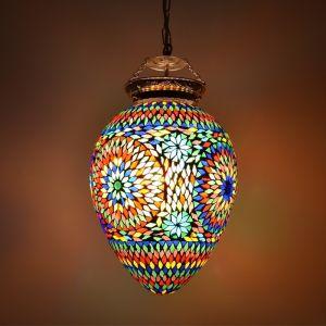 Orientalische Pendelleuchte Isa, Mosaik, multicolour