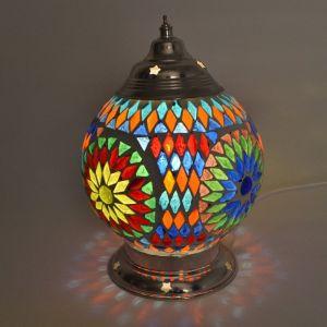 Orientalische Tischlampe Sabri, Mosaik, multicolour