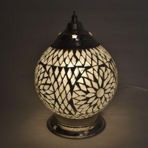 Orientalische Tischlampe Sabri, Mosaik, transparent