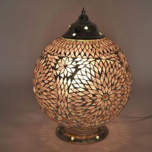 Orientalische Tischlampe Dalil, Mosaik, lila