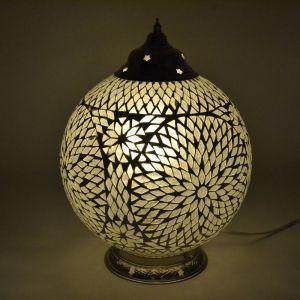 Orientalische Tischlampe Dalil, Mosaik, transparent