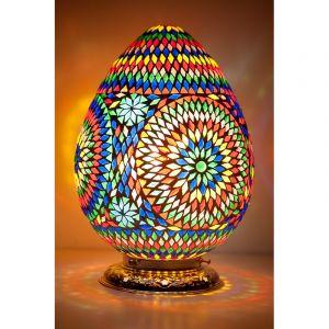 Orientalische Tischlampe Lara, Mosaik, multicolour