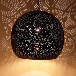 Orientalische Pendelleuchte Alyssa, Metall, schwarz