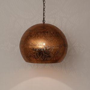 Orientalische Pendelleuchte Kenza, Metall, kupfer