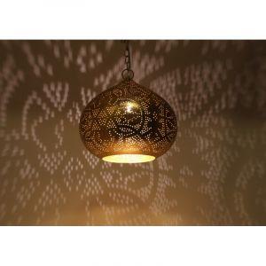 Orientalische Pendelleuchte Noah, Metall, gold