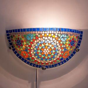 Orientalische Wandleuchte Haja, Mosaik, multicolour