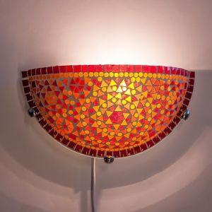 Orientalische Wandleuchte Haja, Mosaik, rot