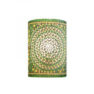 Orientalische Wandleuchte Mahdia, Mosaik, grün