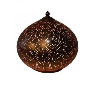 Orientalische Tischlampe Nour, Metall, kupfer