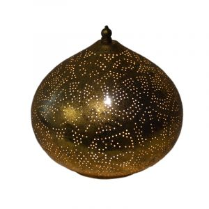 Orientalische Tischlampe Nour, Metall, gold