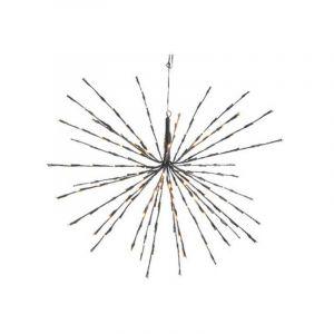 70cm LED 3d Stern mit 160 warmweißen funkelnden LED-Lichtern
