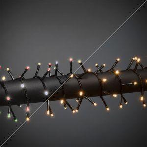 18m LED Weihnachtsbeleuchtung draußen, 240 warmweiße und farbige LEDs