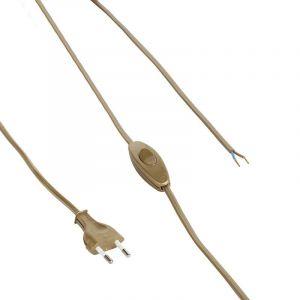 Bronze Verbindungskabel mit Schalter, 2 Meter