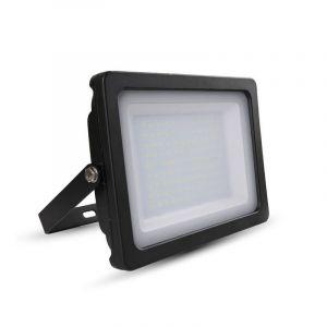 Schwarze Scheinwerfer Dunco 4, Aluminium, 100w Warmweiß integriert LED