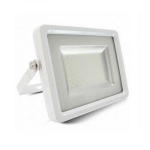 Weiße Scheinwerfer Dunco 1, Aluminium, 100w Warmweiß integriert LED