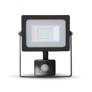 Schwarze Scheinwerfer mit Sensor Lendo 2, Aluminium, 20w Warmweiß integriert LED, mit Bewegungssensor