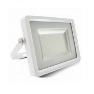 Weiße Scheinwerfer Dunco 1, Aluminium, 150w Warmweiß integriert LED