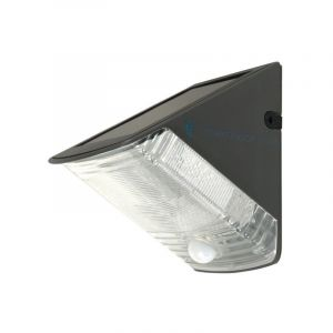 Schwarze Außenwandleuchte auf Solarenergie Costan, Kunststoff, 1w integriert LED