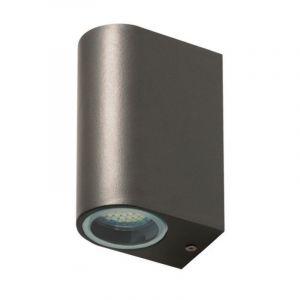 Graue moderne Außen Wandleuchte Kism, Aluminium, 2w integriert LED