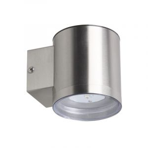 Silberne moderne Außenwandleuchte auf Solarenergie Gigi, rostfreien Stahl, 1w integriert LED