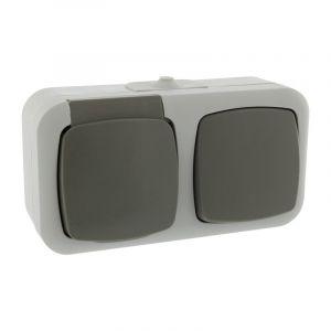 Q-Link Kombinationsbuchse und Schalter, spritzwassergeschützte Schaltererde