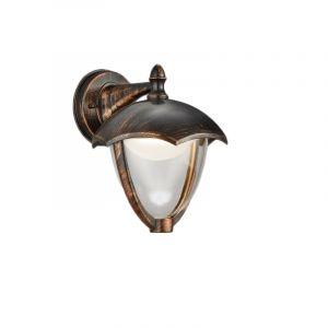Ländliche Außen Wandleuchte Yune, Aluminium, rostfarben, 6w Warmweiß integriert LED