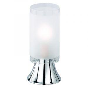 Chrom Tischlampe Leanne, Metall, Ein/Ausschalter am Kabel