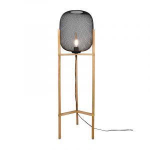 Vintage Stehlampe Cristel, Metall, schwarz, Ein/Ausschalter am Kabel