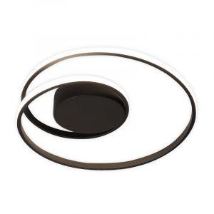 Moderne Deckenleuchte Sassandra, Metall, schwarz, 22w Warmweiß integriert LED
