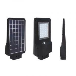 Schwarze Straßenbeleuchtung Lindsay, Polyester, 15w 6000K (KaltWeiß) LED