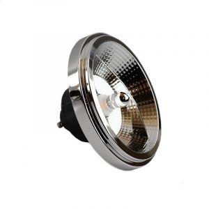 LED Lampe AR111, Glas, Schwarz