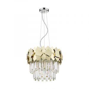 Design Kronleuchter Cyrille, Glass, gold