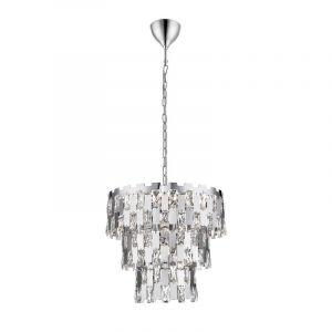 Design Kronleuchter Rayvano, Glass, chrom