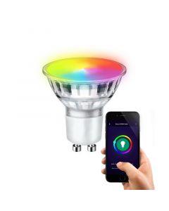 GU10 Wifi Smart LED Lichtquelle, alle Farben und warmes Weiß