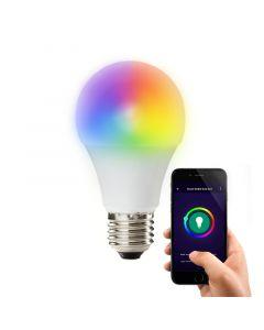 E27 Wifi Smart LED Lichtquelle, alle Farben und warmes Weiß