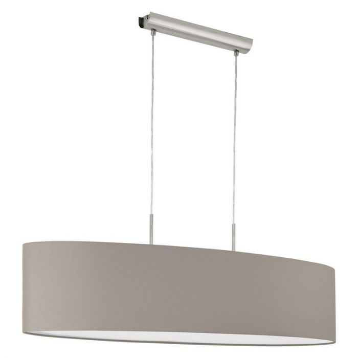 Taupe Pendelleuchte Abano, Stoff